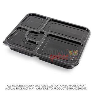 5 Compartment Plates 25Pcs