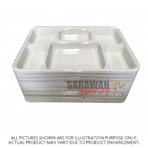 6 Compartment Plates 25Pcs Large