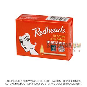 Red Heads Matches 10Box
