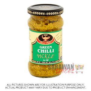 Deep Green Chilli Pickle 283G
