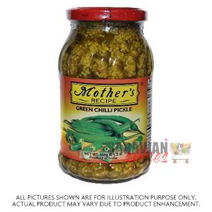 Mother Green Chilli Pickle 500G