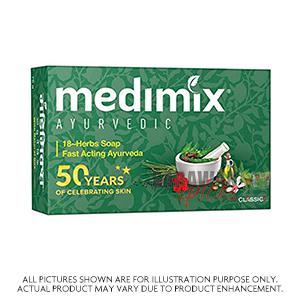Medimix  Classic Green 18 Herb Ayurveda 125G