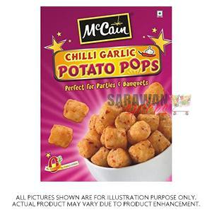 Mccains Chilli Garlic Potato Pops 420G