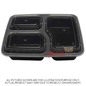 3 Compartment Plates 50Pcs