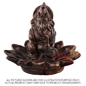 Clay Ganesh Lotus/Simhasan