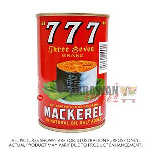 777 Mackerel In Nat Oil 425G